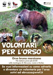 Camapagna volontariato WWF per l'orso marsicano