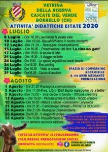 Calendario eventi estivi attività didattiche
