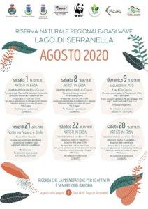 calendario attività agosto Serranella